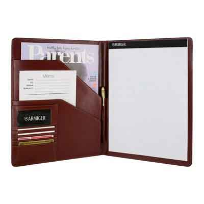 Armiger Executive Bonded Leather Professional Pad folio with Letter Size Notepad