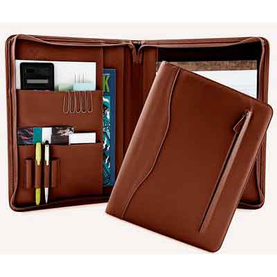 Professional Leather Padfolios | Business Portfolio Document Organizer & Holder | Padfolio Case for Notepads