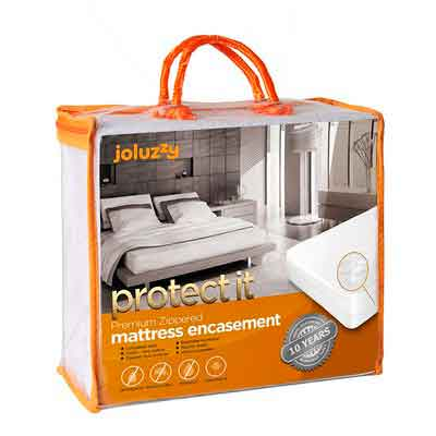 FULL Size Joluzzy 100% Bed Bug Proof / Waterproof - Zippered Mattress Protector - Cotton Terry / Breathable / Noiseless - Six-Sided Mattress Encasement - Hypoallergenic