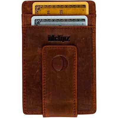 Slim Leather Money Clip Wallet for Men - Best Front Pocket Wallet with Credit Card Holder & ID Case - RFID Blocking