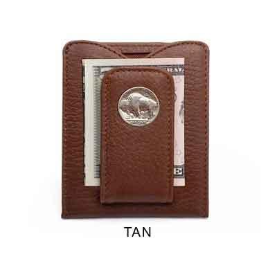 Tokens & Icons Buffalo Nickel Money Clip Credit Card Wallet