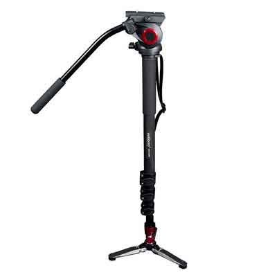 miliboo MTT705B Carbon Fiber Portable Fluid Head Camera Monopod for Camcorder/DSLR Stand Professional Video Tripod 72