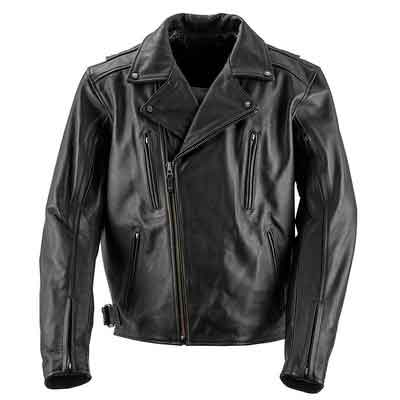 Black Brand Men's Leather Neanderthal Motorcycle Jacket