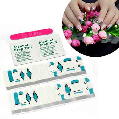 Cealior Premium Manicure Nail Wraps Nail Stickers Nail Strips Decals