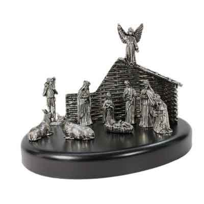 Nativity Set Pewter Made in Ireland Gifts