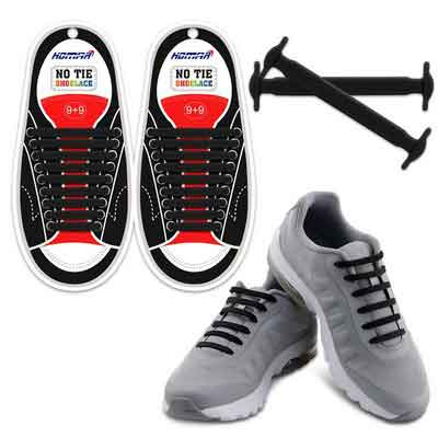 Homar No Tie Shoelaces for Kids and Adults - Best in Sports Fan Shoelaces  Waterproof Silicon Flat Elastic Athletic Running Shoe Laces with Multicolor for Sneaker Boots Board Shoes and Casual Shoes