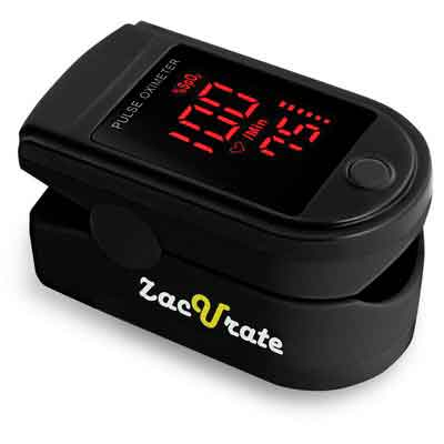 Pro Series 500DL Fingertip Pulse Oximeter Blood Oxygen Saturation Monitor with silicon cover