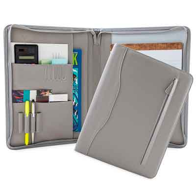 Professional Pleather Padfolios | Business Portfolio Document Organizer & Holder | Padfolio Case for Notepads