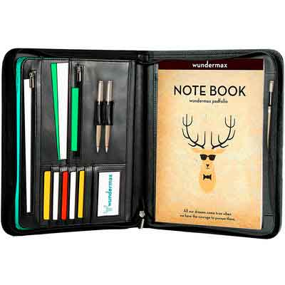 Wundermax Padfolio Portfolio with Bonus Writing Pad
