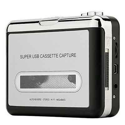 Reshow Cassette Player  Portable Tape Player Captures MP3 Audio Music via USB