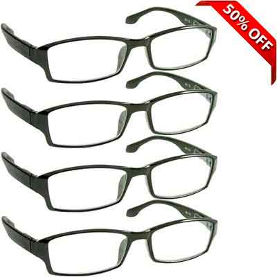 Reading Glasses _ Best 4 Pack for Men and Women _ Have a Stylish Look and Crystal Clear Vision...