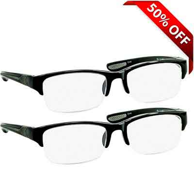 Black Computer Reading Glasses 2.75 _ Protect Your Eyes Against Eye Strain