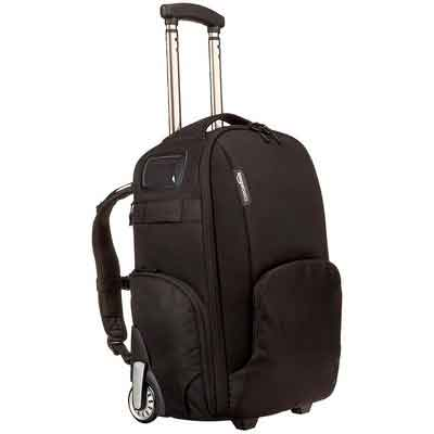 AmazonBasics Convertible Rolling Camera Backpack