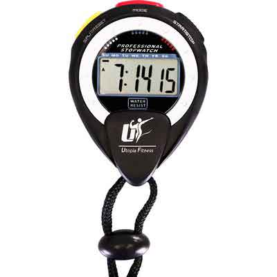 Stopwatch - Multi-function Electronic Sports Stopwatch - Large Display with Date Time and Alarm - Ideal for Sports Coaches