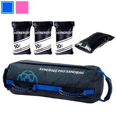 Synergee Adjustable Fitness Sandbag with Filler Bags 10-40lbs and 25-100lbs Heavy Duty Weight Bag