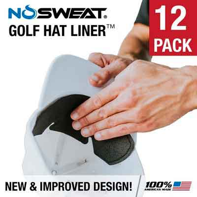 No Sweat Golf Hat Liner & Sweat Absorber -- Moisture Wicking Sweatband Absorbs Dripping Sweat | Prevent Sweat Stains & Hat Saver Care