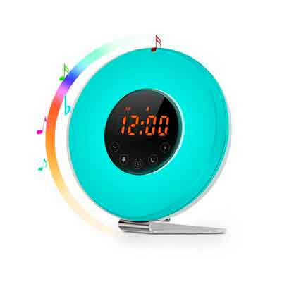 Sunrise Alarm Clock - Joyful Heart Best Wake Up Light with 7 colors Changing