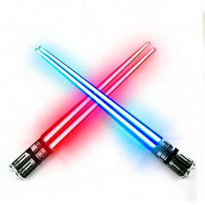 Chop Sabers Light Up LightSaber Chopsticks Set