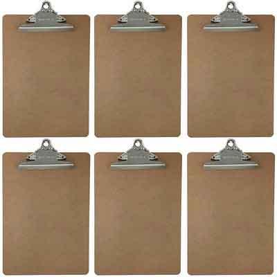 Letter Size Clipboard Standard Clip 9'' x 12.5'' Hardboard