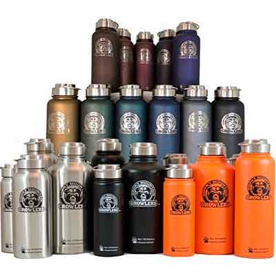 Personalized Smoky Mountain Growlers Insulated Stainless Steel All-in-one 32 oz Water Bottle