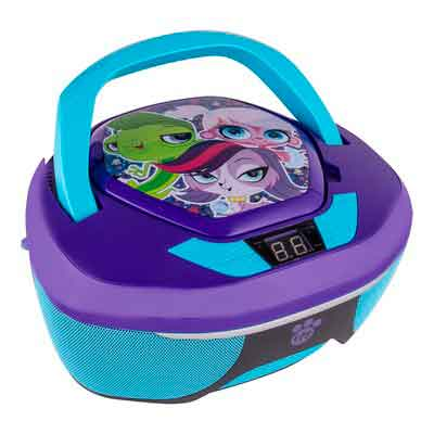 Sakar CR1-01081 Littlest Pet Shop CD Boombox