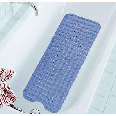 Extra Long Bathtub Mats Anti-Slip Tub Mat Anti-Bacterial Shower Mat